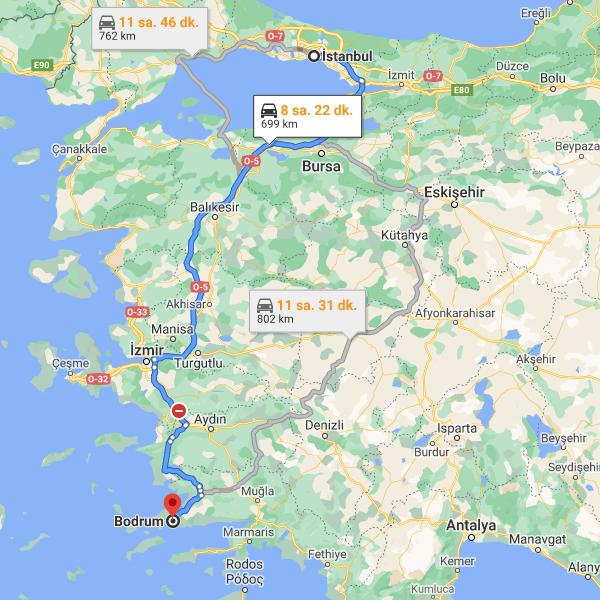 istanbul-bodrum-arasi-kac-km-saat